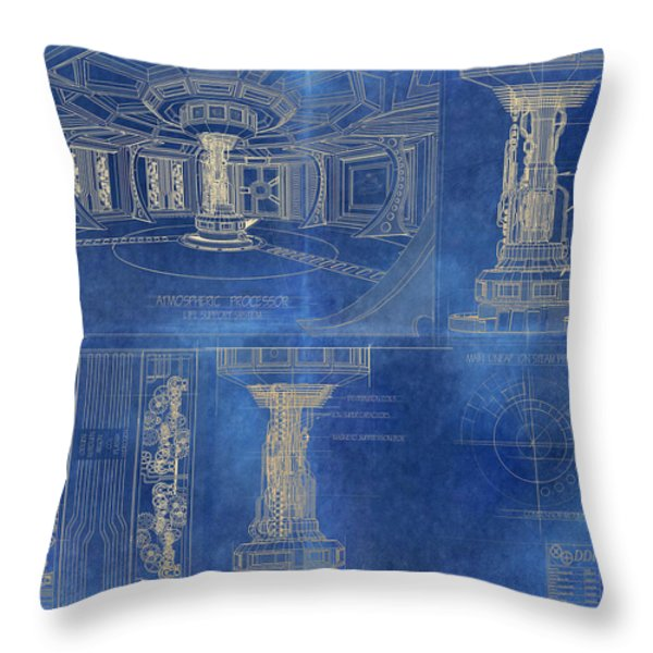 Atmospheric Processor Throw Pillow by James Christopher Hill