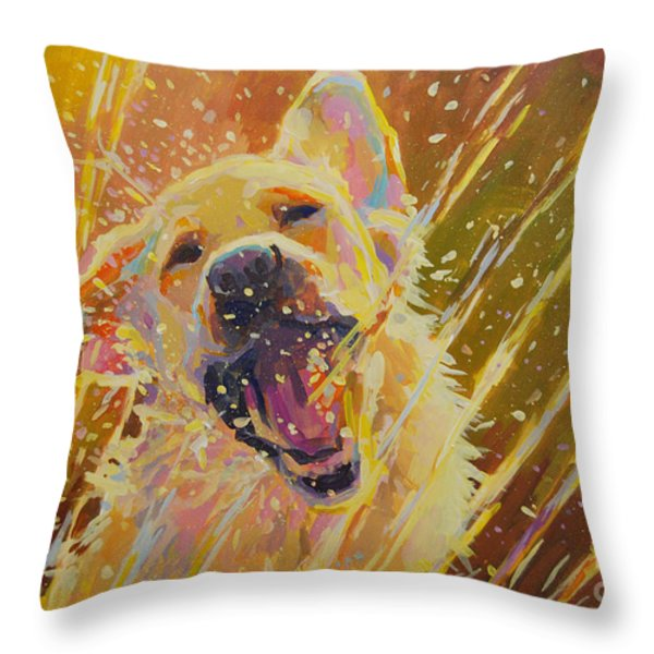 August Throw Pillow by Kimberly Santini