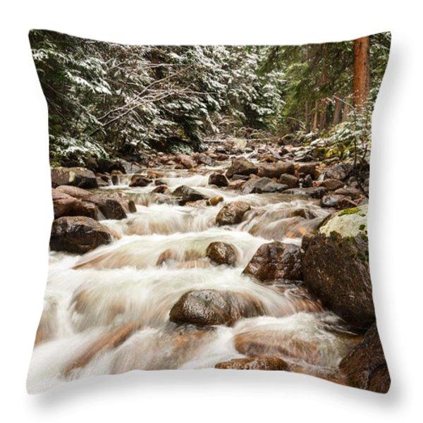 Autumn At Gore Creek - Vail Colorado Throw Pillow by Brian Harig