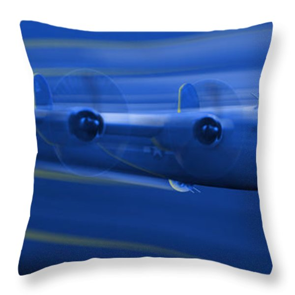 B-24 Liberator Legend Throw Pillow by Mike McGlothlen