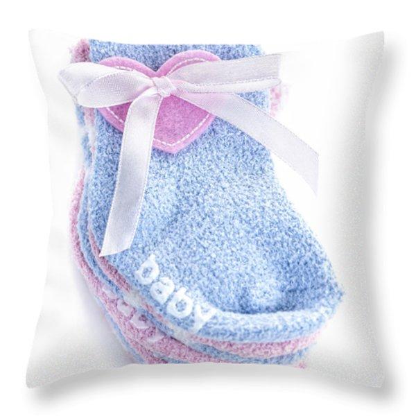 Baby socks Throw Pillow by Elena Elisseeva