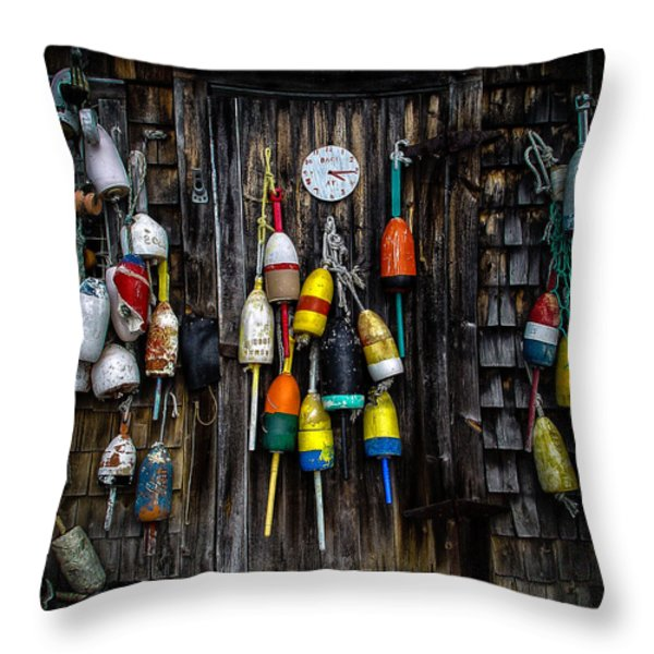 Back At Four Fifteen Throw Pillow by Bob Orsillo