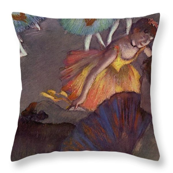 Ballet Throw Pillow by Edgar Degas