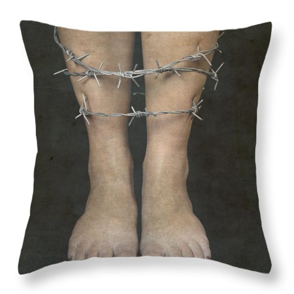 Barbed Wire Throw Pillow by Joana Kruse