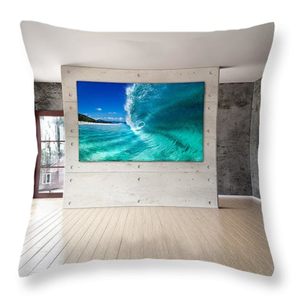 Barrel Swirl Throw Pillow by Sean Davey