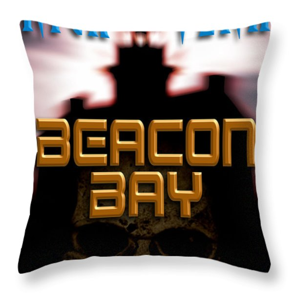 Beacon Bay Throw Pillow by Mike Nellums
