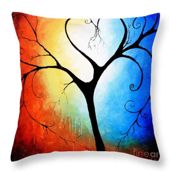 Beautifully Broken Throw Pillow by Mike Grubb
