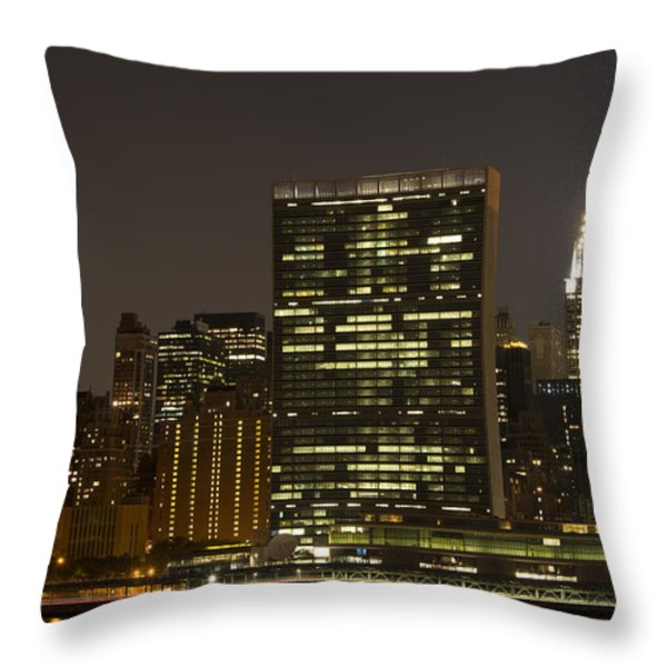 Beauty Of The Night Throw Pillow by Theodore Jones