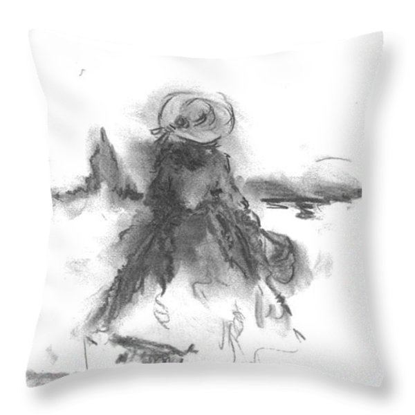 Being Happy Throw Pillow by Laurie D Lundquist