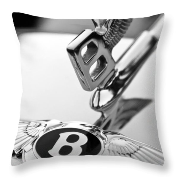 Bentley Hood Ornament Throw Pillow by Jill Reger