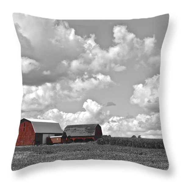 Big Sky Throw Pillow by Frozen in Time Fine Art Photography