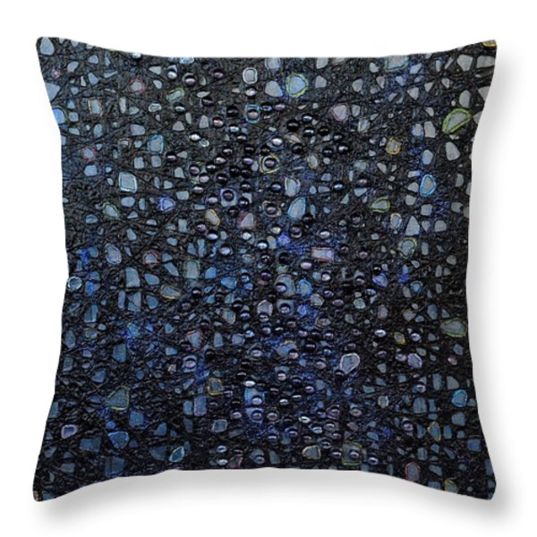 Black Rain Throw Pillow by Donna Blackhall