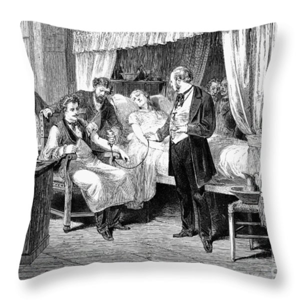 Blood Transfusion, 1874 Throw Pillow by Granger