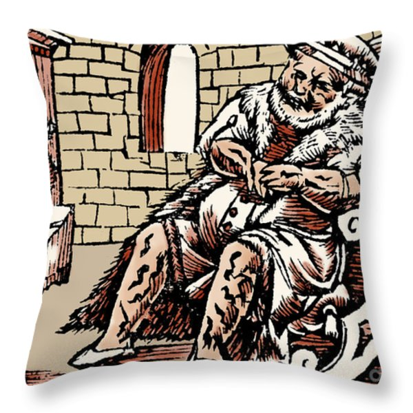 Bloodletting For Weight Reduction Throw Pillow by Science Source