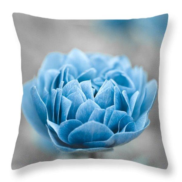 Blue Flower Throw Pillow by Frank Tschakert