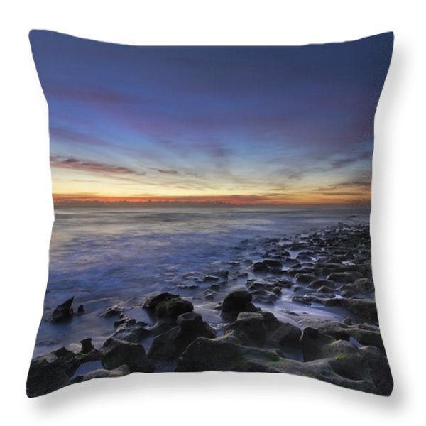 Blue Lagoon Throw Pillow by Debra and Dave Vanderlaan