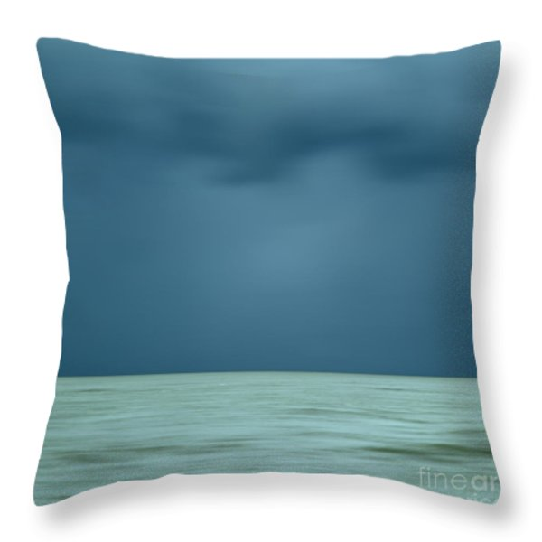 Blue Sea Throw Pillow by Bernard Jaubert