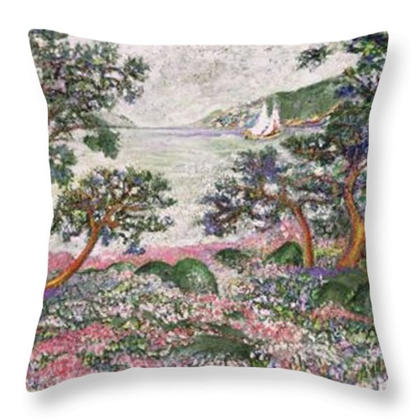 Bodensee Throw Pillow by Gunter  Hortz