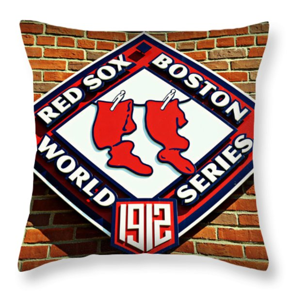 Boston Red Sox 1912 World Champions Throw Pillow by Stephen Stookey