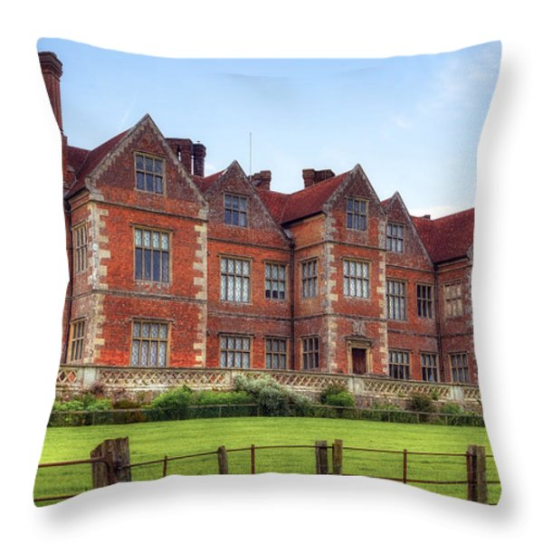 Breamore House Throw Pillow by Joana Kruse
