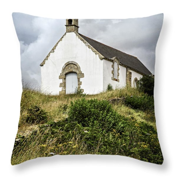 Breton church Throw Pillow by Elena Elisseeva