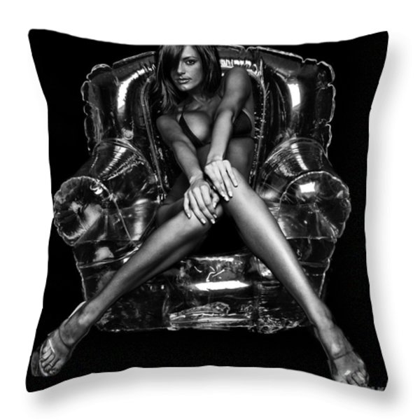 Bubble Chair Throw Pillow by Jt PhotoDesign