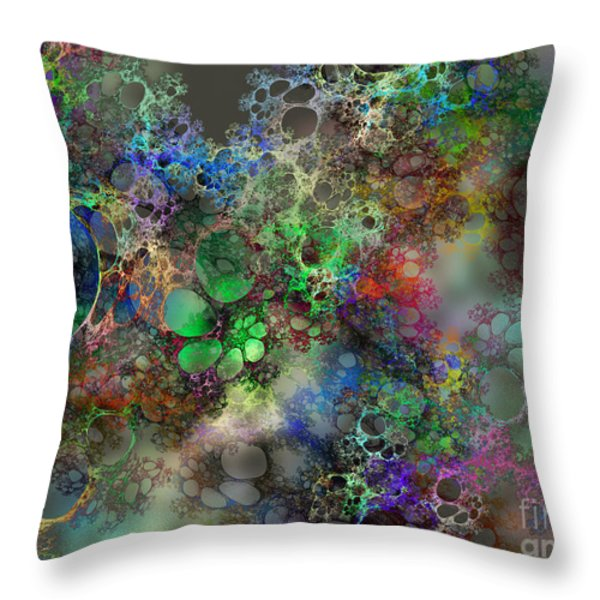 Bubbles Throw Pillow by Klara Acel