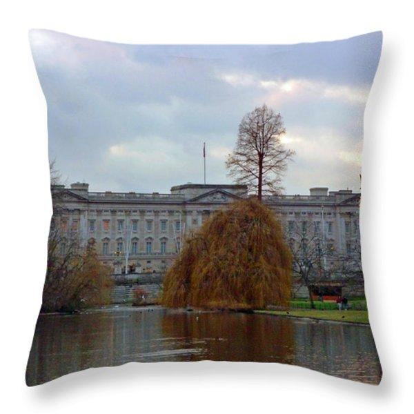 Buckingham Palace Throw Pillow by Lynn Bolt