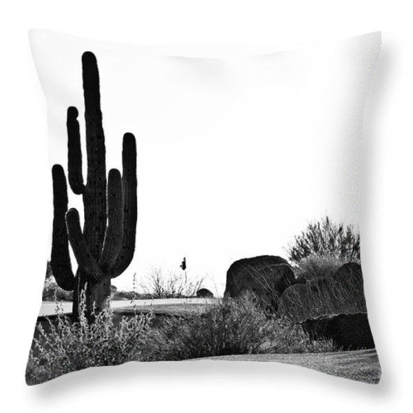 Cactus Golf Throw Pillow by Scott Pellegrin