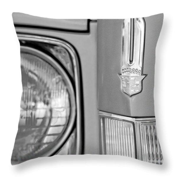 Cadillac Headlight Emblem Throw Pillow by Jill Reger