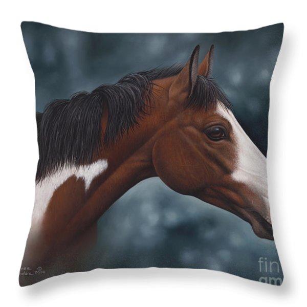 Cara Blanca Throw Pillow by Ricardo Chavez-Mendez