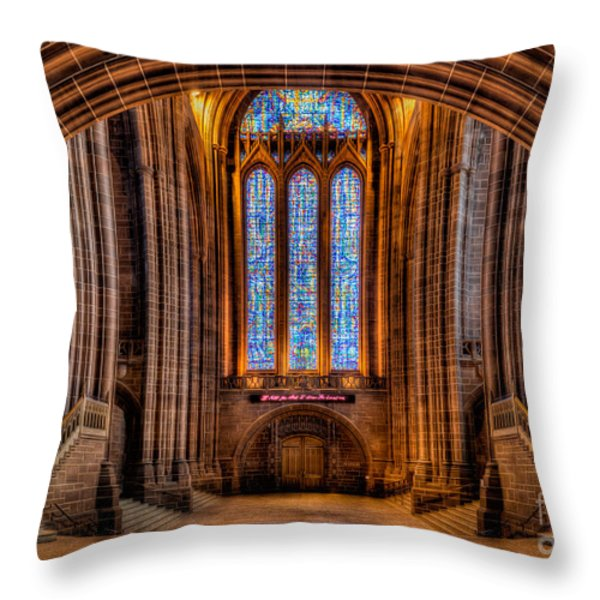 Cathedral Window Throw Pillow by Adrian Evans