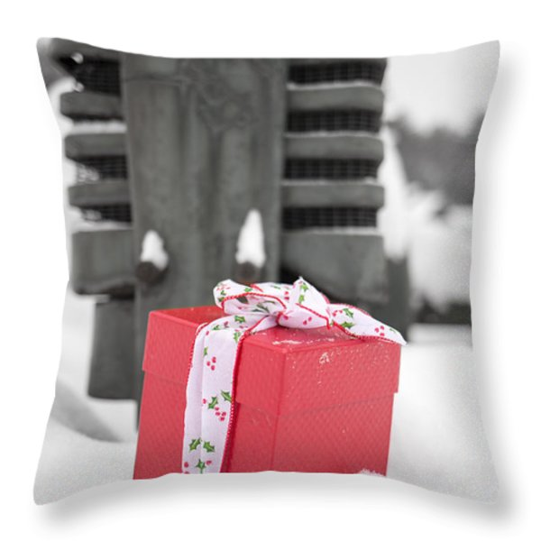 Christmas Down on the Farm Throw Pillow by Edward Fielding