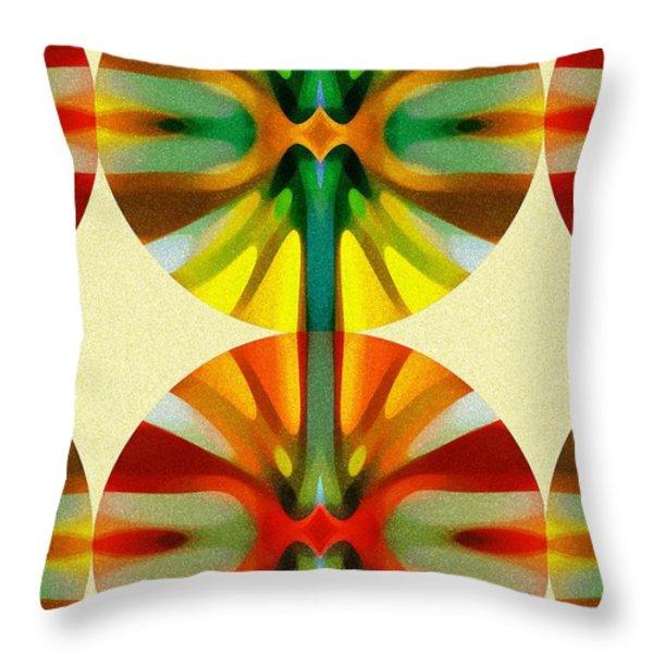 Circle Pattern 2 Throw Pillow by Amy Vangsgard