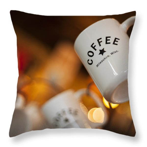 Coffee Throw Pillow by Scott Norris