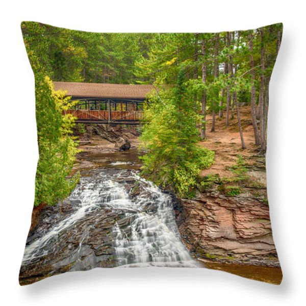 Covered Bridge Throw Pillow by Paul Freidlund