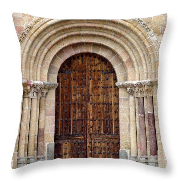 Door Throw Pillow by Frank Tschakert