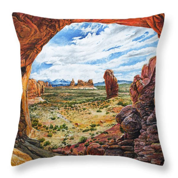 Double Arch Throw Pillow by Aaron Spong