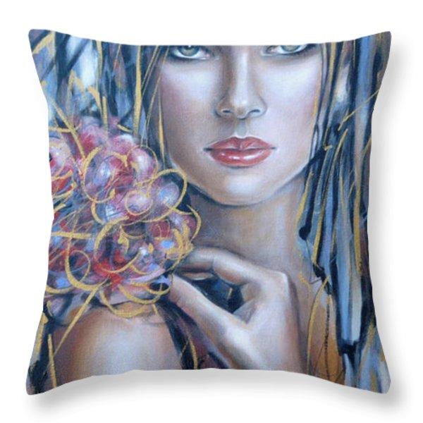 Drama Queen 301109 Throw Pillow by Selena Boron