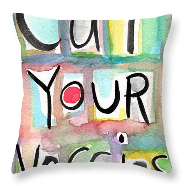 Eat Your Veggies  Throw Pillow by Linda Woods
