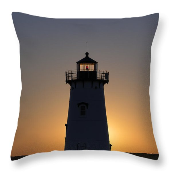 Edgartown Light Sunrise Throw Pillow by John Greim