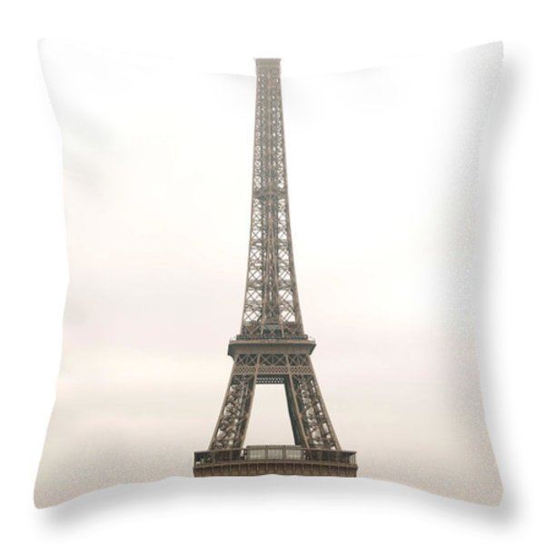 Eiffel tower Throw Pillow by Elena Elisseeva