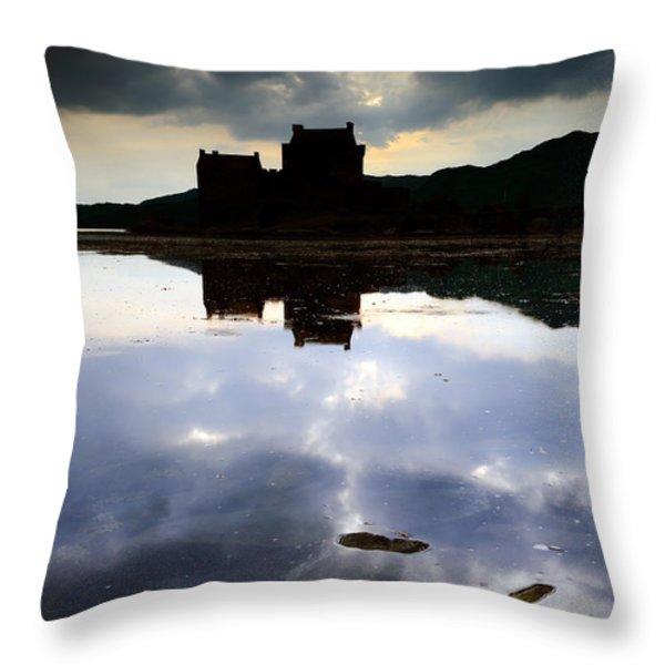Eilean Donan Castle Throw Pillow by Grant Glendinning