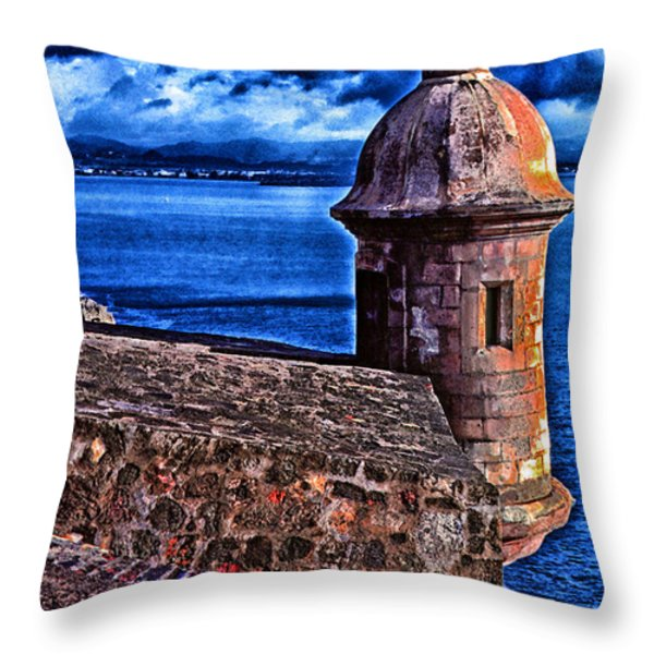 El Morro Fortress Throw Pillow by Thomas R Fletcher