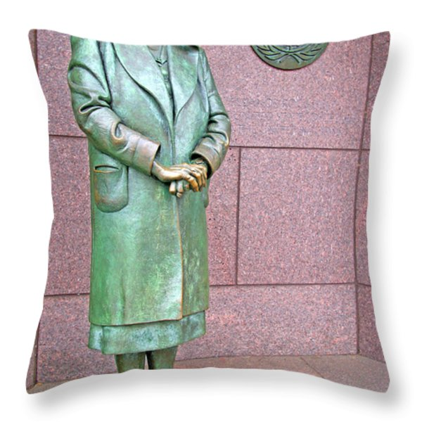 Eleanor Roosevelt -- 1 Throw Pillow by Cora Wandel