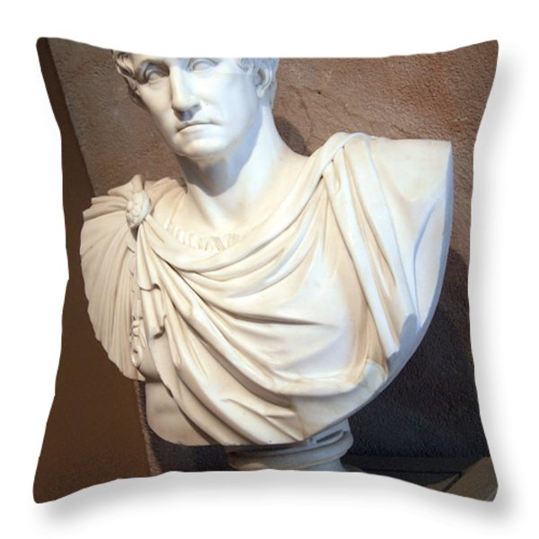 Emperor George Washington Throw Pillow by Cora Wandel