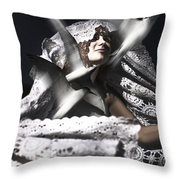 Escape The Fate Throw Pillow by Ryan Jorgensen