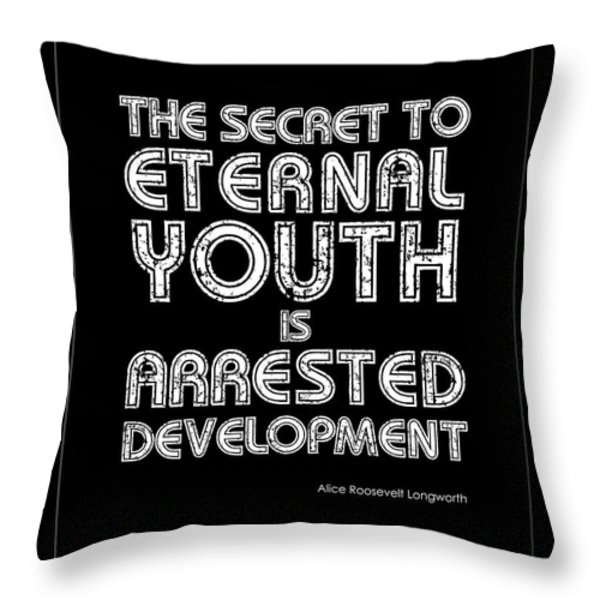 Eternal Youth Throw Pillow by Kate McKenna