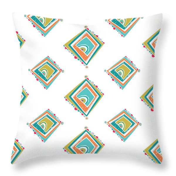 ethnic window Throw Pillow by Susan Claire