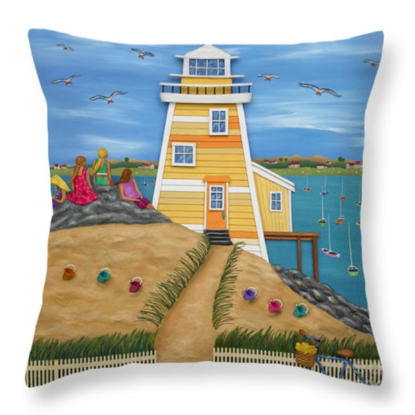 Everything Was Illuminated Throw Pillow by Anne Klar
